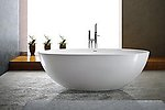 Adalina Solid Surface Modern Bathtub 71