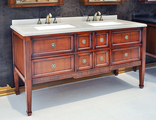 Antique Double Sink Vanities - Antique Vanity Sets - Antique Vanity Set - Evelyn II