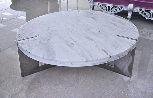 modern coffee table - marble coffee table - round coffee table