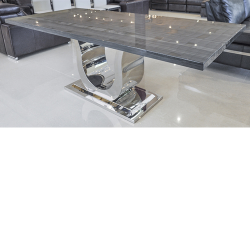 Exceptionnel Grey Lines Marble Dining Table