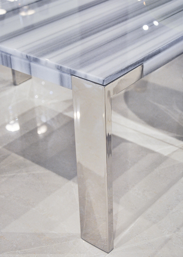 Laterza Ii Modern End Table White Lines
