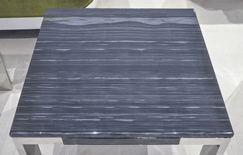 Laterza Ii Marble End Table Grey Lines