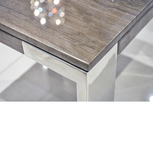Laterza Ii Marble End Table Tan Lines