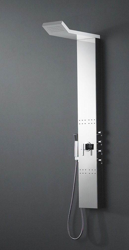 Double sink bathroom vanities and cabinets - Shower Panel Shower Wall Panel Preston